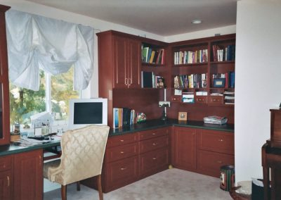 Custom home office storage & home office space Orange County