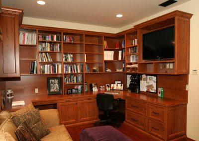 Custom home office storage & home office space Palos Verdes