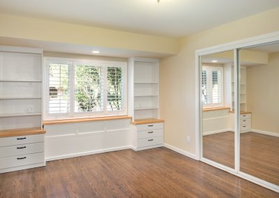 Built in Bookcase with Drawers Los Angeles