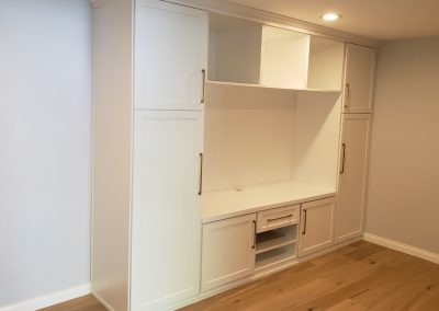 Custom Built In Entertainment Center & Bookcase Los Angeles