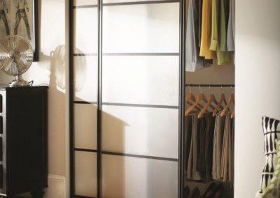 Custom Modern Sliding Closet Door with Panes Manhattan Beach