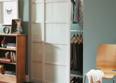 Modern Custom Sliding Closet Doors with Panes Palos Verdes Estates