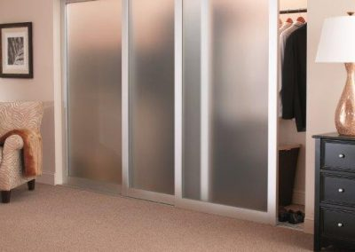 Modern Sliding Closet Doors Frosted Glass Manhattan Beach